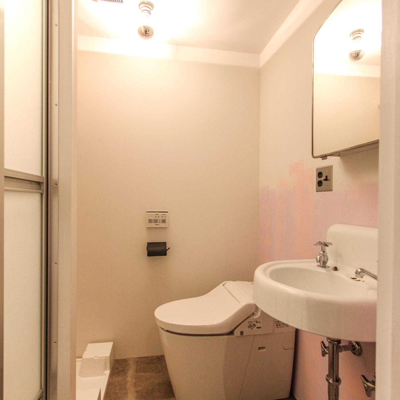 洗面ボウルとトイレ