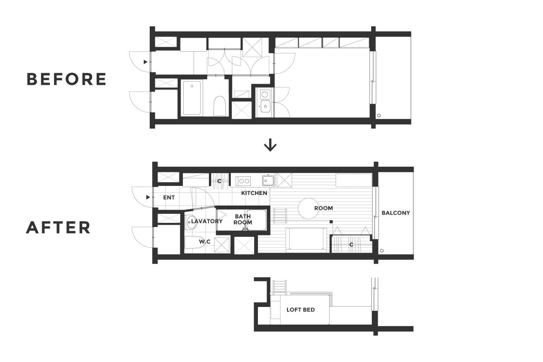 代々木タイニーアパートメントの間取り図